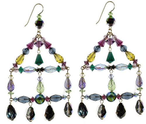 Colorful crystal chandelier earrings designer jewelry from nyc chandelier earrings made with rare swarovski crystal by karen curtis nyc aloadofball Images