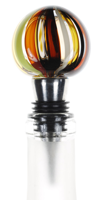 Hand Blown Art Glass Wine Stoppers by karen curtis NYC