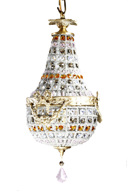 Colored chandeliers strass swarovski crystal karen curtis multi soft colored moroccan chandelier aloadofball Gallery