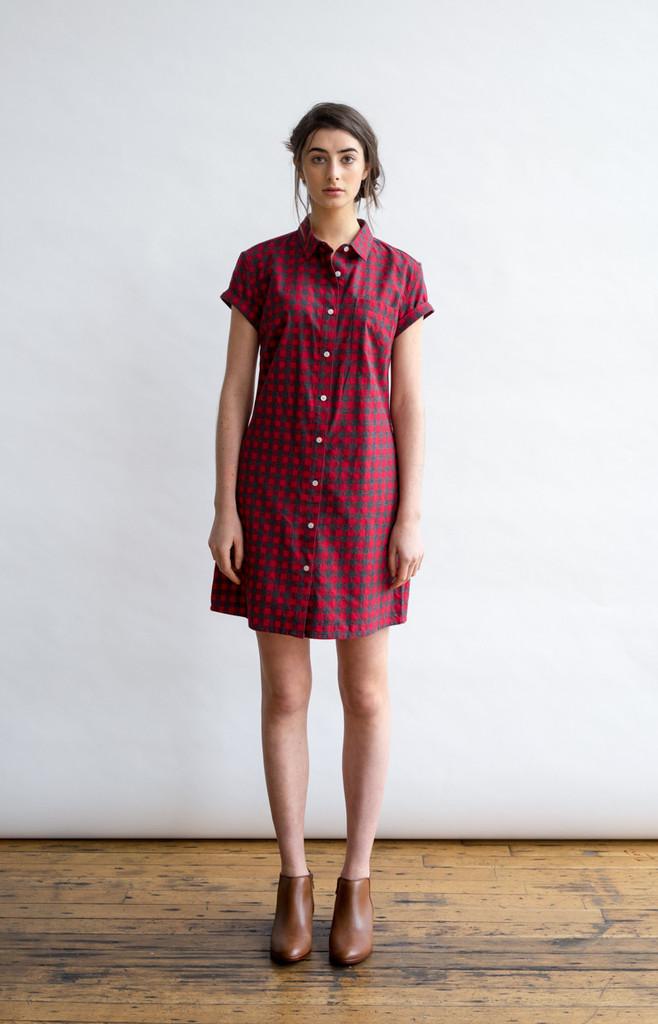 Loren Red Gingham Tunic