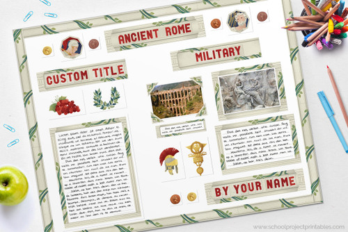Make your Ancient Rome report using this printable kit!