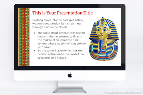 Powerpoint template for Ancient Egypt projects (also works with Keynote and Google Slides).