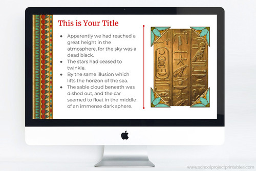 Use this template to make your Ancient Egypt report.