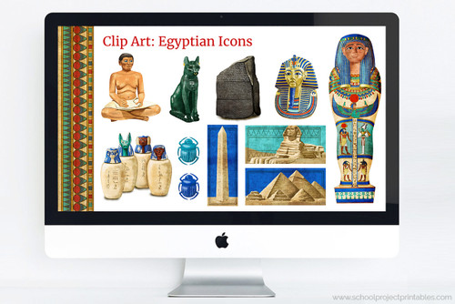 Ancient Egypt powerpoint template including all of this clip art!
