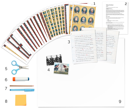 American Civil War stickers and templates to use in tutorial