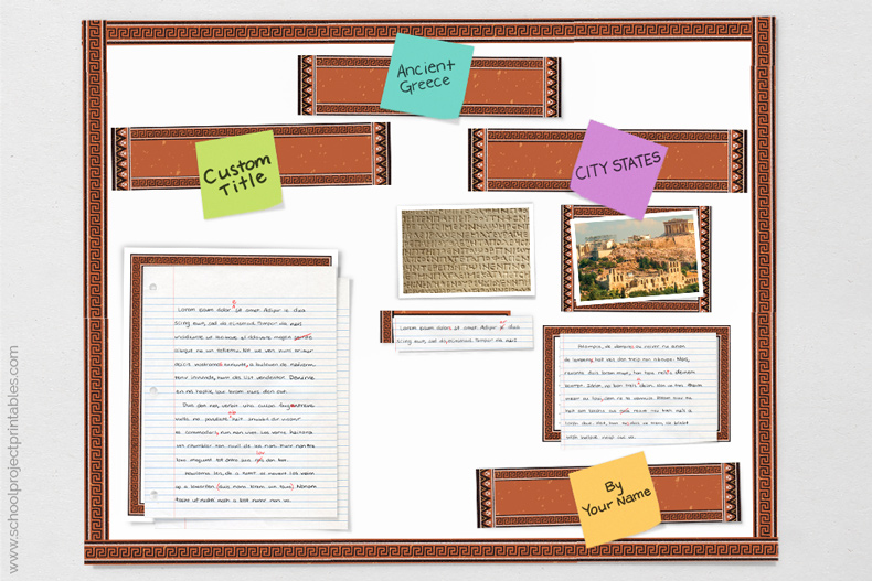 tutorial showing how to make Ancient Greece poster for project