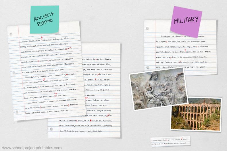 Ancient Rome report poster work in progress