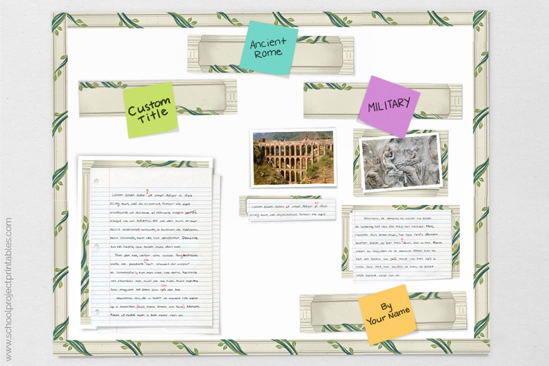 tutorial showing how to make Ancient Rome poster for project