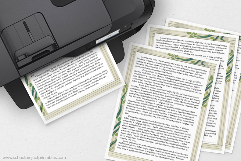 Ancient Rome report template coming out of printer
