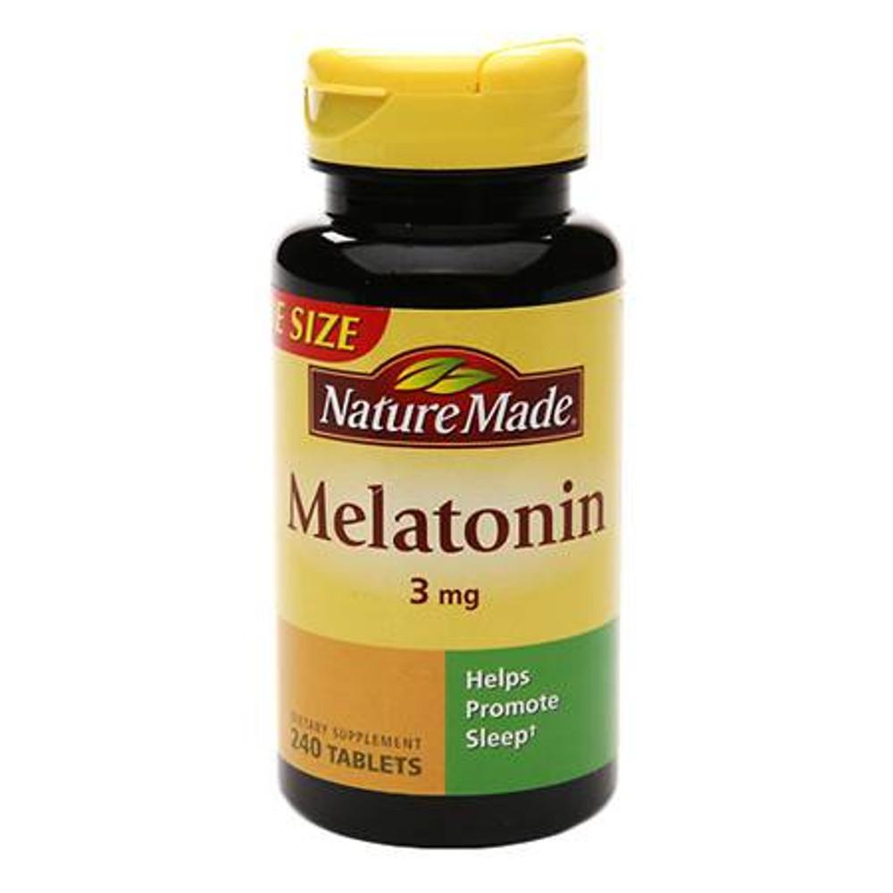 Melatonin, 3 mg, 240 Tablets - Nature Made