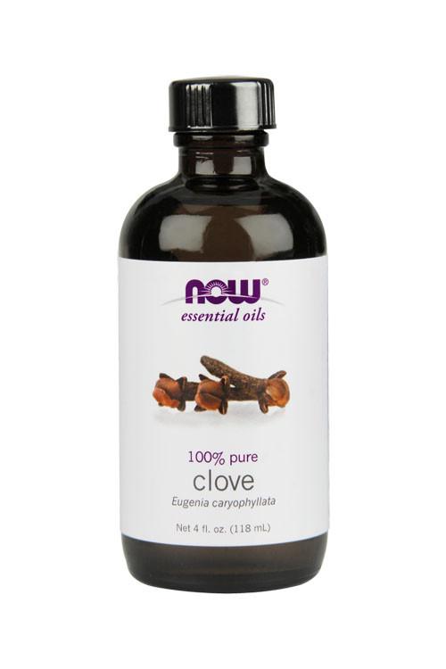 Now Food Clove oil 4oz 100% pure essential oil