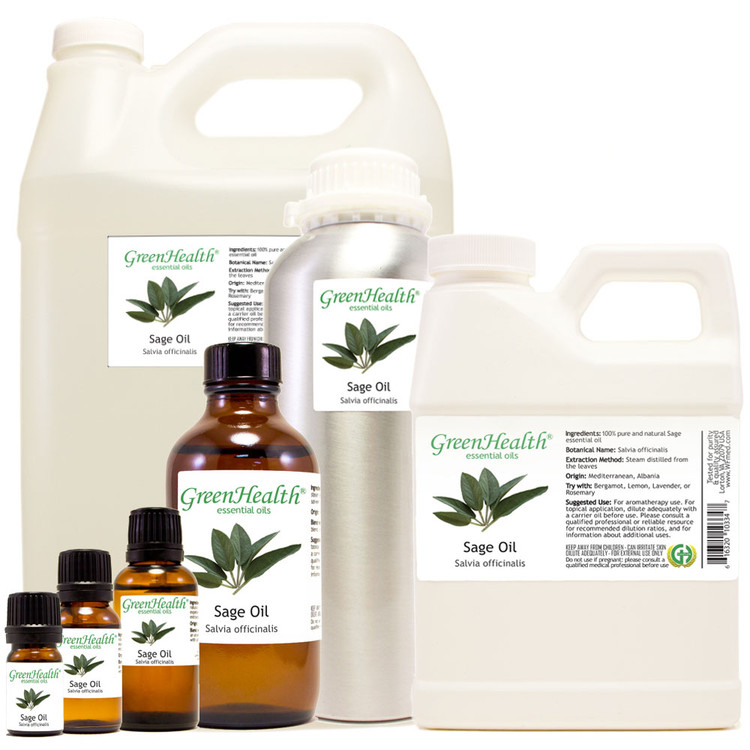 sage oil salvia officinalis 5ml 10ml 15ml 1oz 2oz 4oz 8oz 16oz 32oz