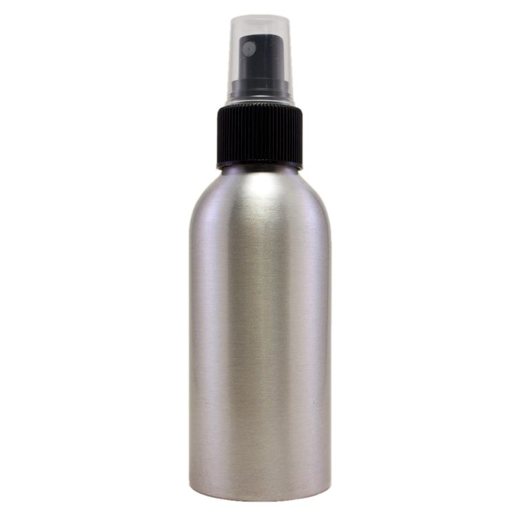 4 fl oz Aluminum Bottle w/ Black Spray Cap