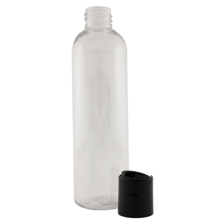 4 fl oz Clear Plastic Bottle w/ Black Dispenser Lid