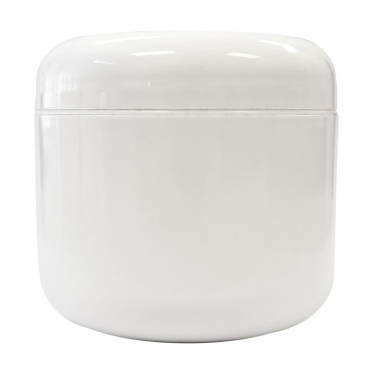 4 oz White Plastic Jar w/ Dome Lid