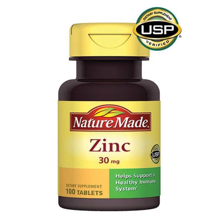 Zinc, 30 mg, 100 Tablets - Nature Made