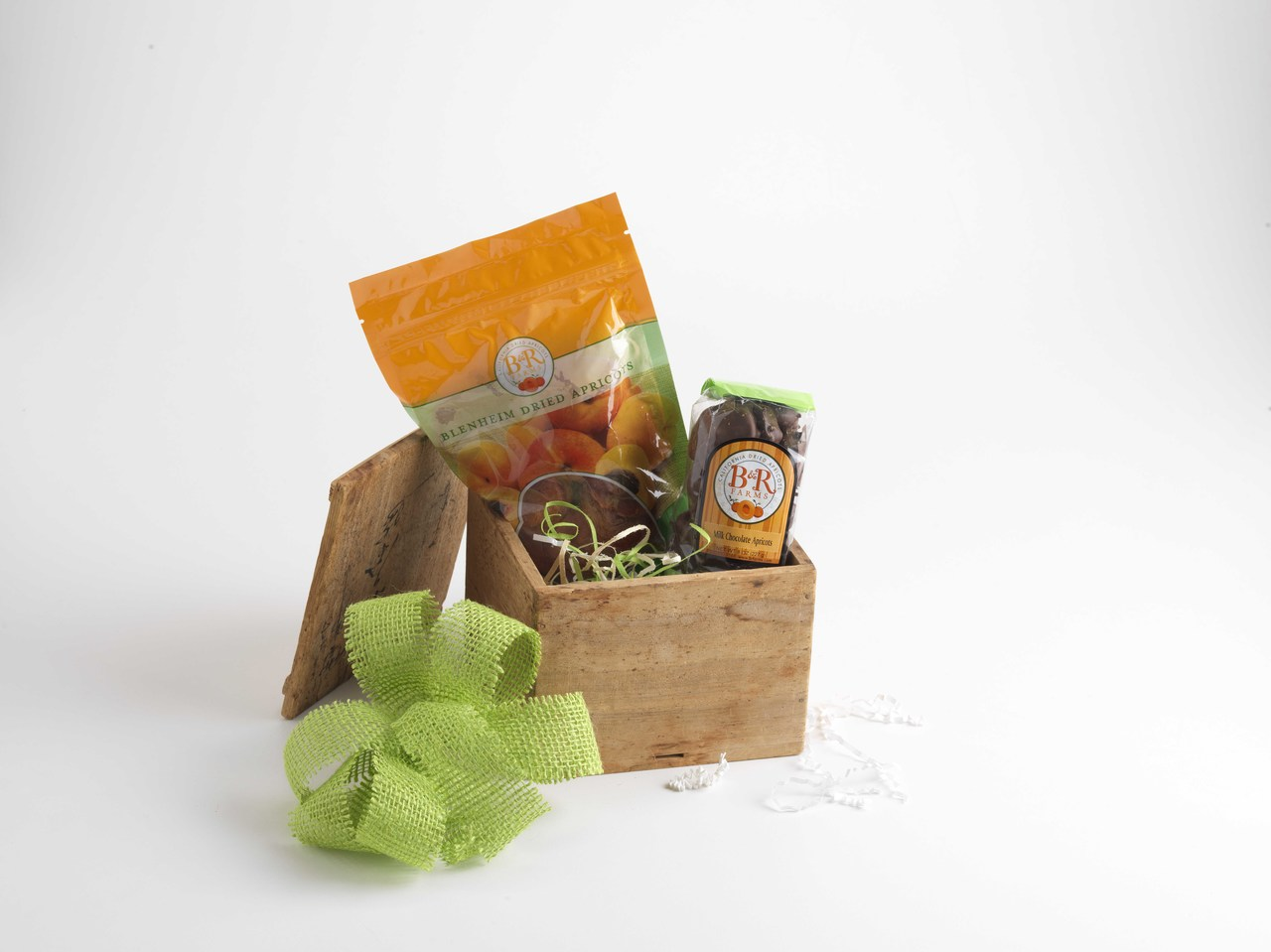 Taste of Fairview Holiday Basket- Dried Blenheim Apricots and Dark Chocolate Covered Apricot Nibbles