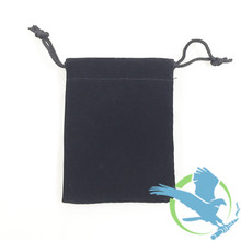 Black Felt Drawstring Pouch - 3.5 x 2.5 Inches - For RDAs, RTAs, Tanks, And Glass (MSRP $1.00)