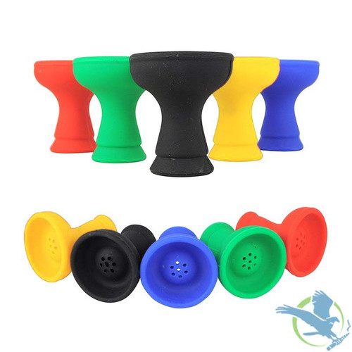 Durable Silicone Hookah Head - Assorted Designs