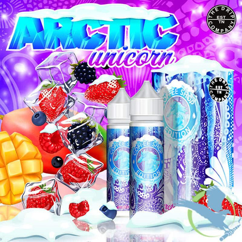 Coffee Shop Arctic Unicorn Edition E-Liquid By The Drip Co. 120ML (2x60ML) (MSRP $30.00)