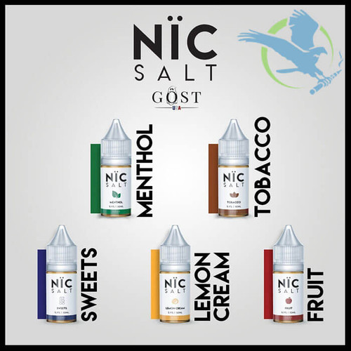 Nic Salt Nicotine Salt E-Liquid By Gost Vapor 30ML (MSRP $20.00)