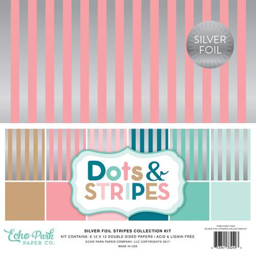 Dots & Stripes Silver Foil Stripes