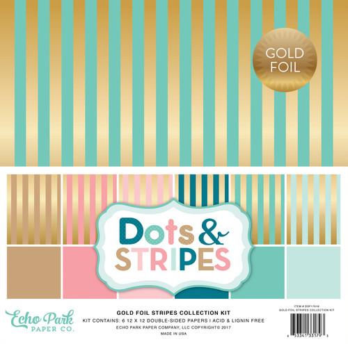 Dots & Stripes Gold Foil Stripe