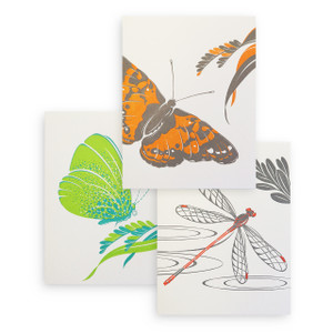 """Tropical Wings"" Letterpress Notecard Series"