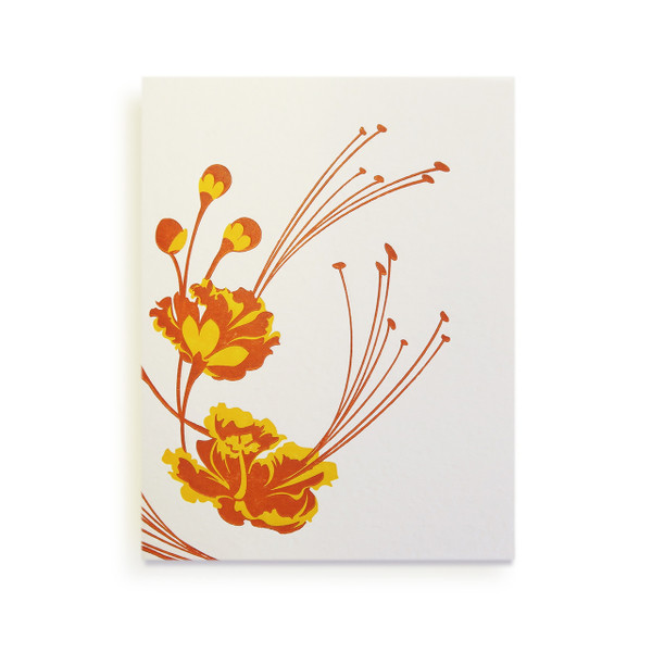 """Tropical Blossoms"" Letterpress Notecard Series"