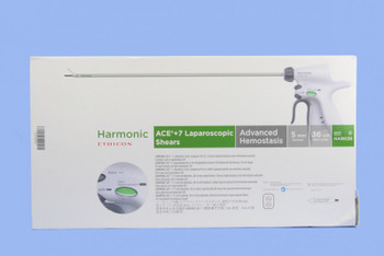 ETHICON HARH36 HARMONIC ACE+ 7 SHEARS WITH ADVANCED HEMOSTASIS: 5MM X 36CM, CURVED TIP - HARH36