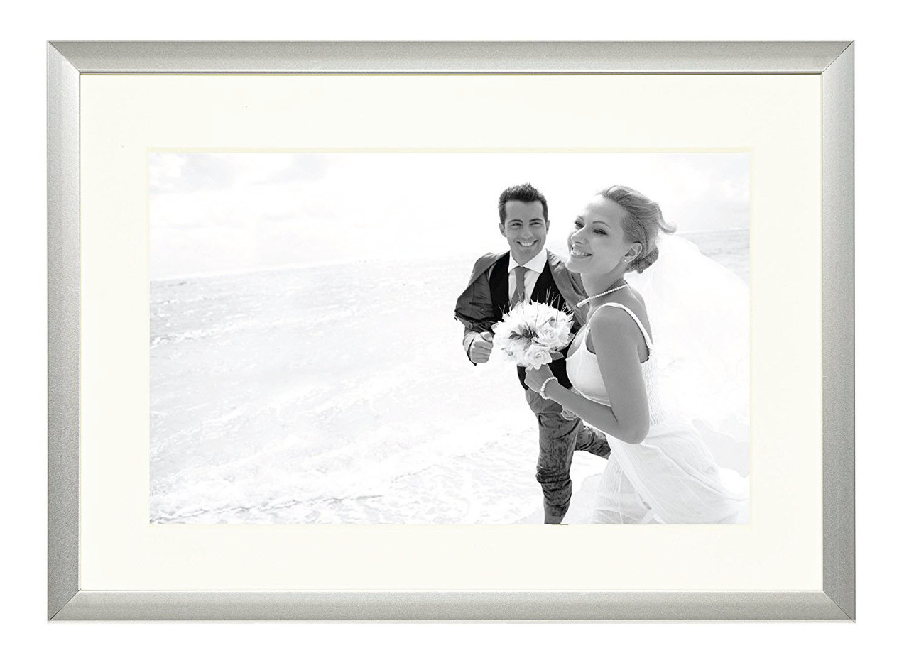 Frametory, Metal Picture Frame Collection,Aluminum Silver Photo ...