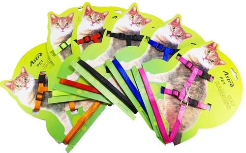 Adjustable Nylon Cat Harness & Leash