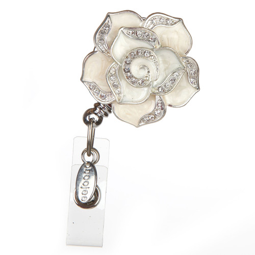 Rose Flower Badge Reel