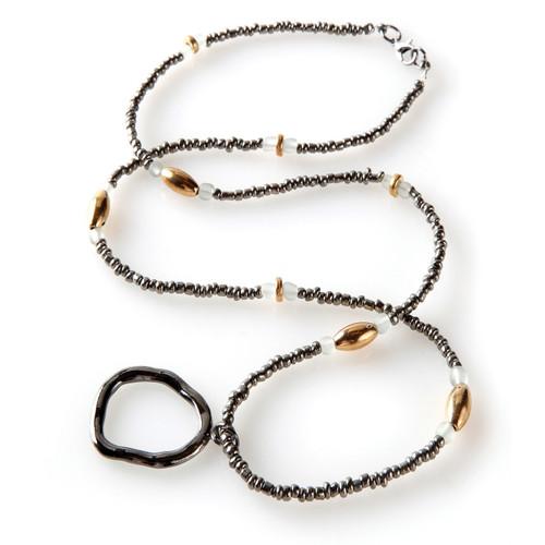 Hematite Eyeglass Necklace