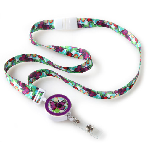 Butterfly Ribbon Lanyard