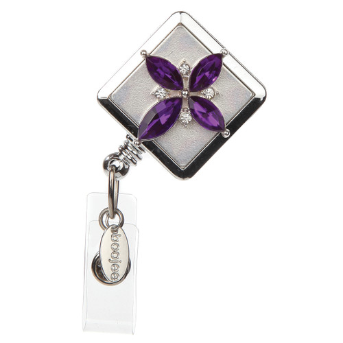 Purple Cross Badge Reel