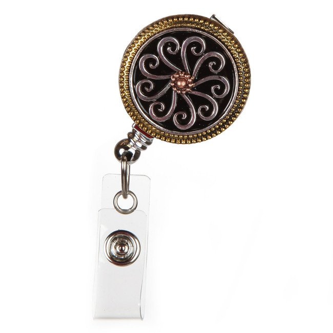 Tri-Metal Fashion Badge Reel