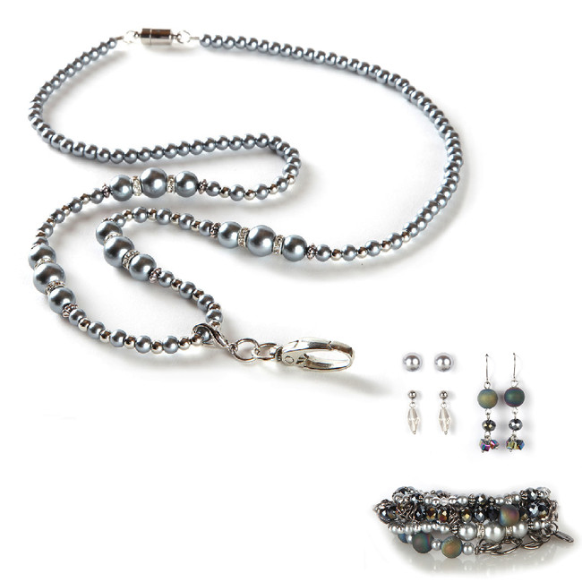 Brooke Fashion Lanyard with Earrings & Bracelets, 8 pc set