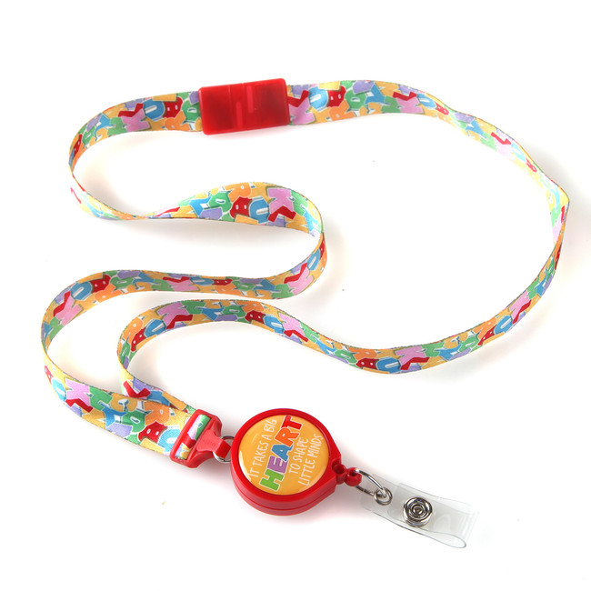 Heart Ribbon Lanyard