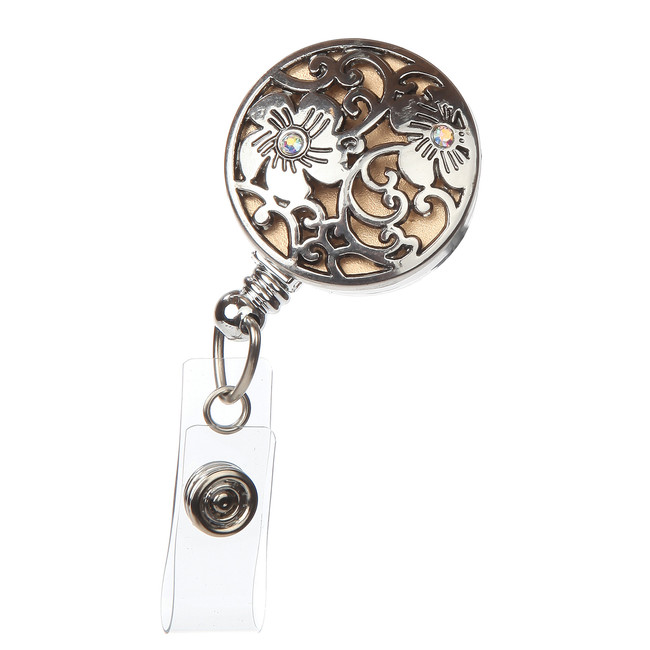 Clematis Fashion Badge Reel