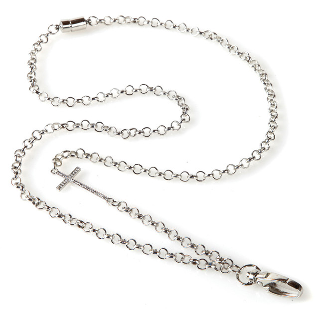 Pavé Cross Chain Lanyard