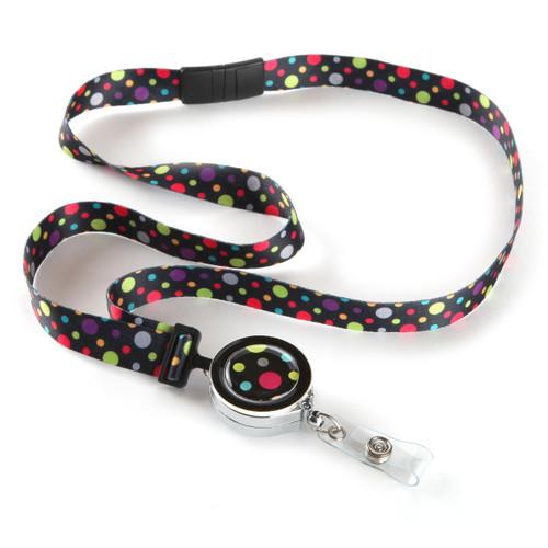 Id Card Beads: Polka Ribbon Lanyard