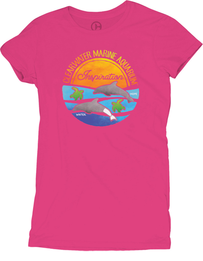 Winter & Hope Sea of Inspiration Juniors' Tee - Hot Pink