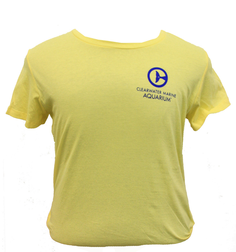 Clearwater Marine Aquarium Logo Women's Tee - Yellow
