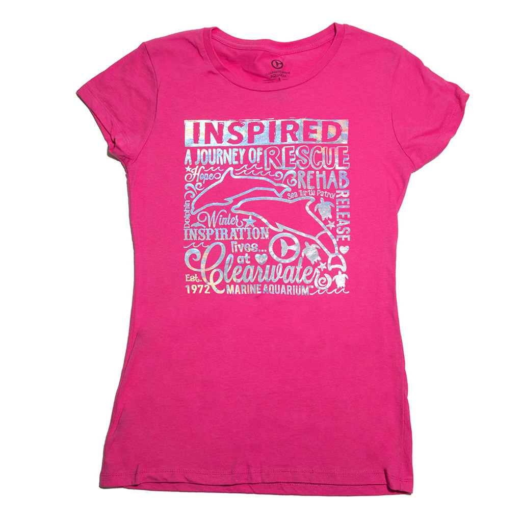 Inspired Journey Girls' Tee - Hot Pink