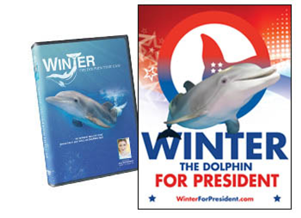 Winter For President Poster & Winter, The Dolphin That Can Combo Pack