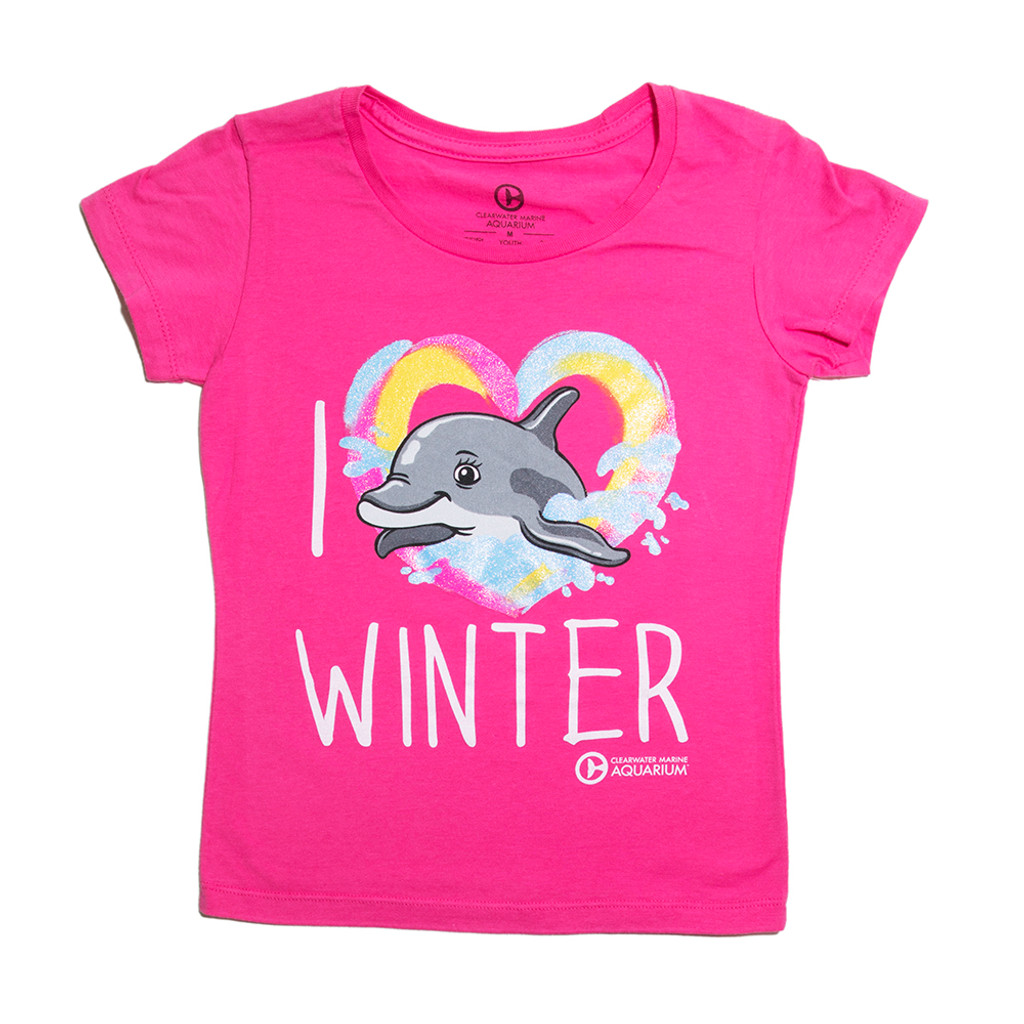 I Love Winter Girls' Tee