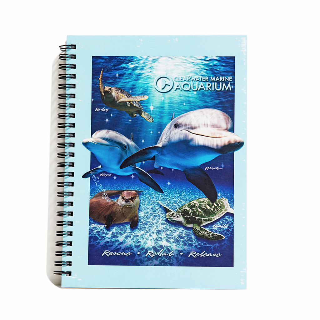Clearwater Marine Aquarium Family Spiral Notebook