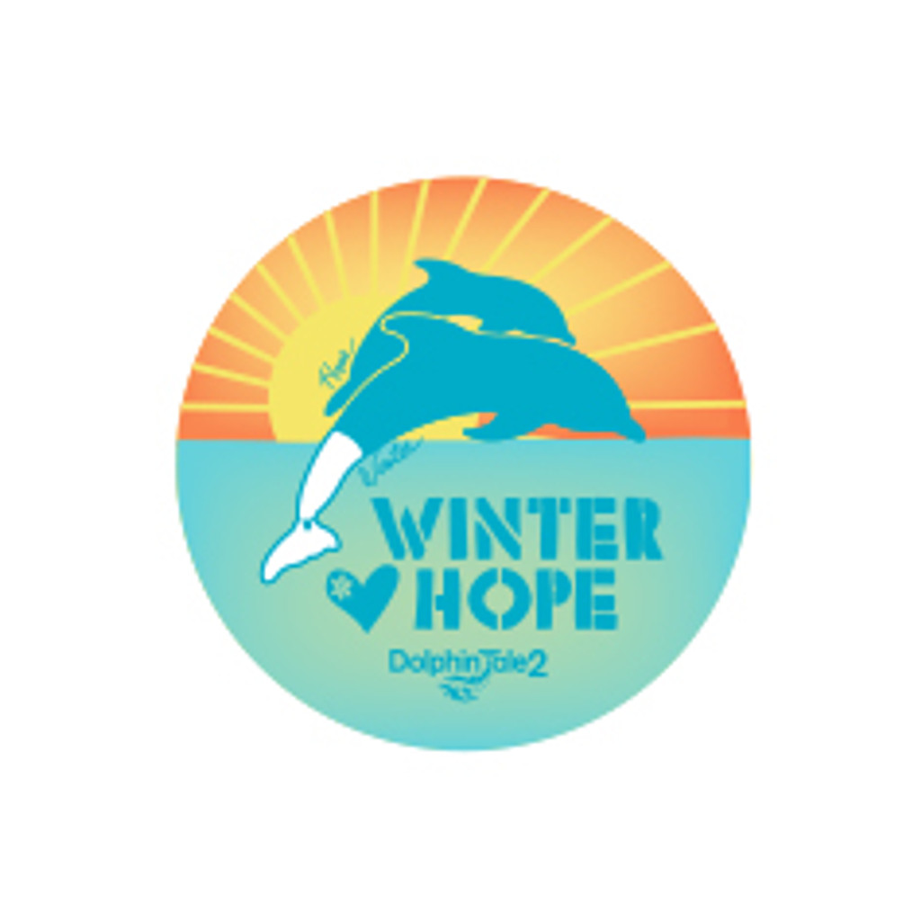 Dolphin Tale 2 Winter & Hope Sunrise Button