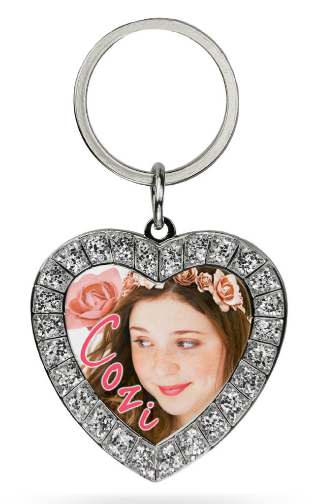 Cozi Zuehlsdorff Rhinestone Heart Keychain